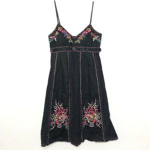 Sue Wong Vintage Embroidered Floral Sun Dress R